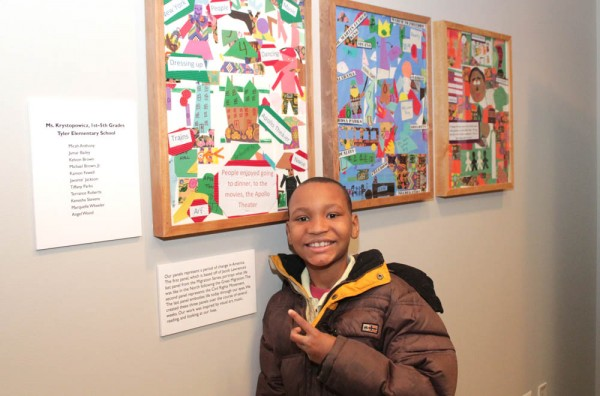 YAE Tyler student with his art