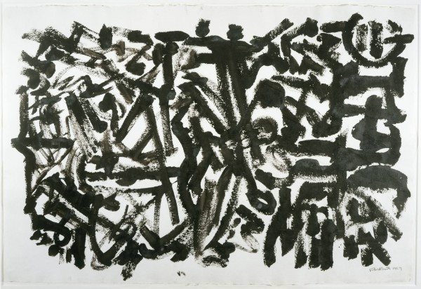 David Smith. Untitled, 1959, Black egg ink on paper. The Phillips Collection, gift of Linda Lichtenberg Kaplan, 2004. © Estate of David Smith/Licensed by VAGA, New York, NY