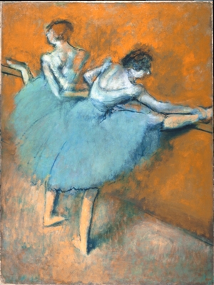 Hilaire-Germain-Edgar Degas. Dancers at the Barre, ca. 1900. Oil on canvas. 51 ¼ x 38 ½ in. The Phillips Collection