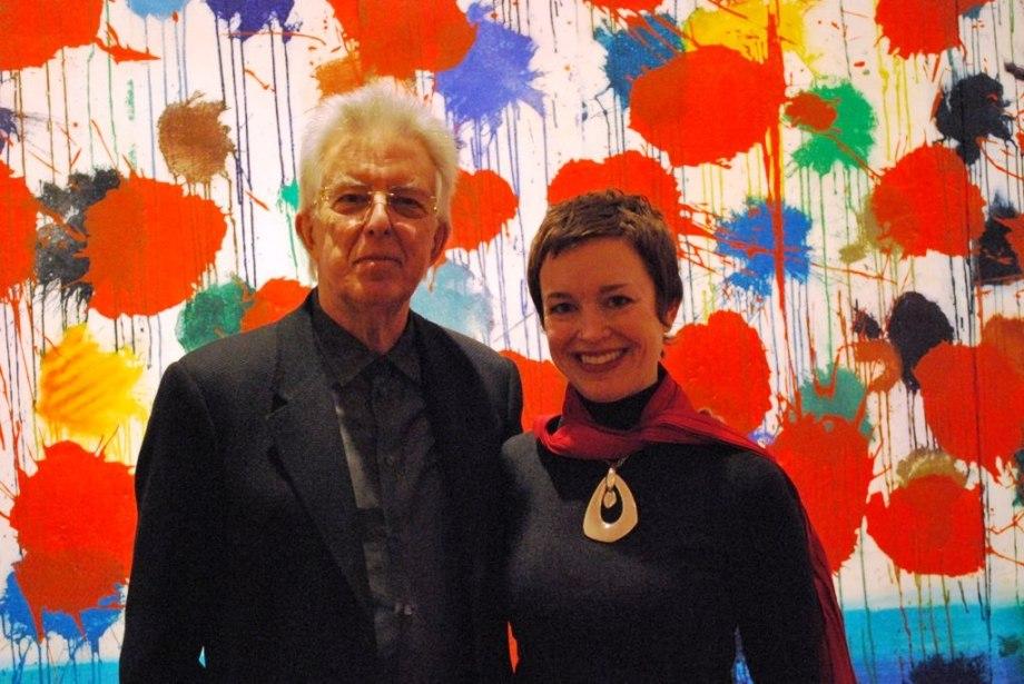 Roger Reynolds with Music Director Caroline Mousset (Photo by Steve Antosca)