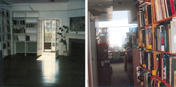 What started as a pristine, airy space (ca. 1980, left), became quite crowded (ca. 2000, right). From The Phillips Collection Archives.