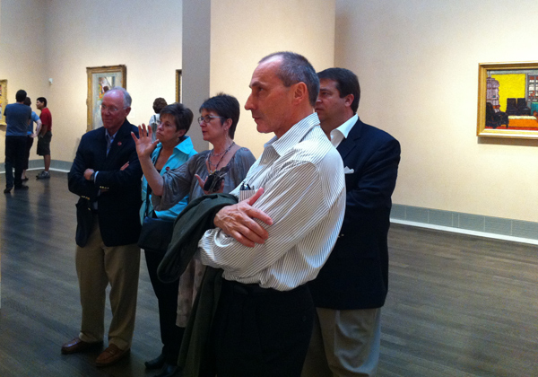 At the MFA Houston, April 2011: Gerald and Kay Fischer, Dorothy Kosinski, George Swygert, and Thomas Krähenbühl