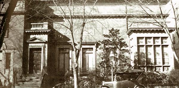 Original museum entrance, 1920s