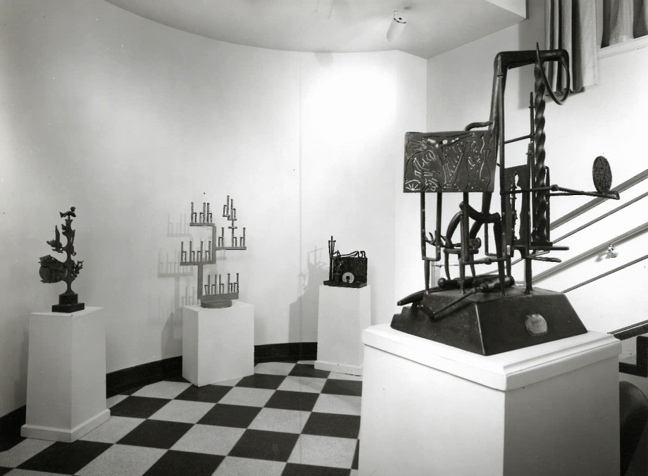 David Smith sculptures on display in the 1960 Annex, 1962.