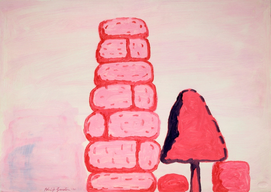 Philip Guston. Untitled (Wall), 1971. Oil on paper. Private Collection. © Estate of Philip Guston; image courtesy McKee Gallery, New York, NY