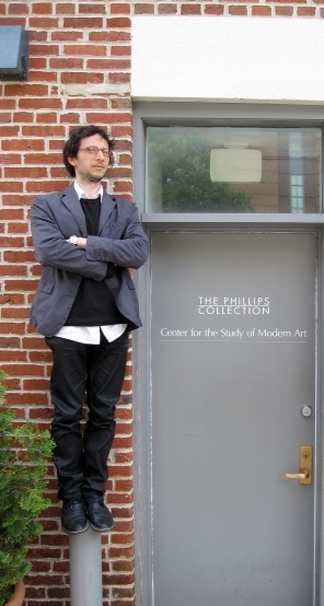 Postdoctoral Fellow, Riccardo Venturi, at the Center (Photo by Sarah Osborne Bender)