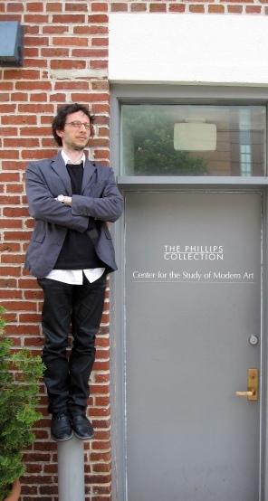 Postdoctoral Fellow, Riccardo Venturi, at the Center (Photo by Sarah Osborne Bender)