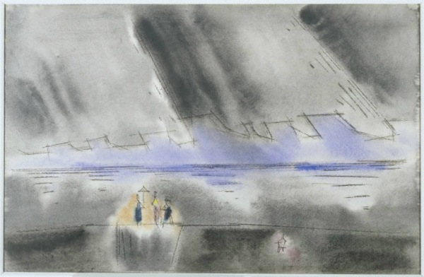 Lyonel Feininger, Perfume and Sweet Candy, 1948. Watercolor on paper, 12 1/4 x 18 1/4 in. The Phillips Collection, Washington, D.C.