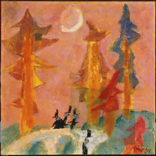 Lyonel Feininger, Spook I, 1940. Oil on canvas, 21 x 21 in. The Phillips Collection, Washington, D.C.