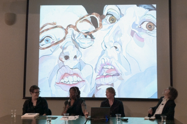 Panelists Siobhan Rigg, Veronica Jackson and Jamie Smith with Moderator Klaus Ottmann at the Creative Voices DC panel on September 14