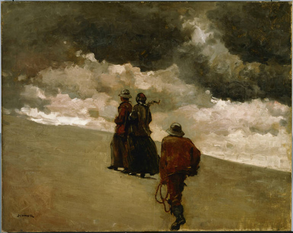 Winslow Homer, To the Rescue, 1886, Oil on canvas; 24 x 30 in.; 60.96 x 76.2 cm.. Acquired 1926.