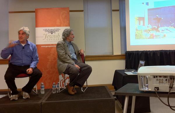 Tobi Kahn in conversation with Ori Soltes at Georgetown University, September 20