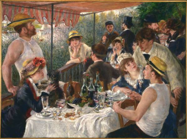 Pierre-Auguste Renoir (1841–1919), Luncheon of the Boating Party, 1881. Oil on canvas, 51 ¼ x 69 1/8 inches. Acquired 1923. The Phillips Collection, Washington, D.C.