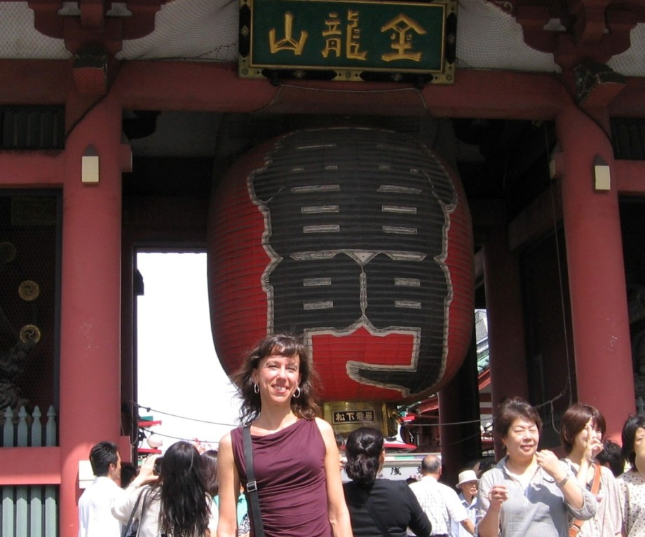 Renée at Sensoi Temple, Tokyo, Japan. Photo courtesy Renée Maurer