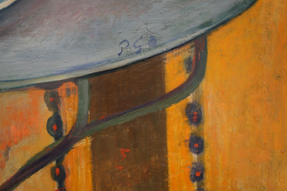 Detail, Paul Gauguin, The Ham, 1889, Oil on canvas; 19 3/4 x 22 3/4 in. Acquired 1951. Photo: Claire Norman
