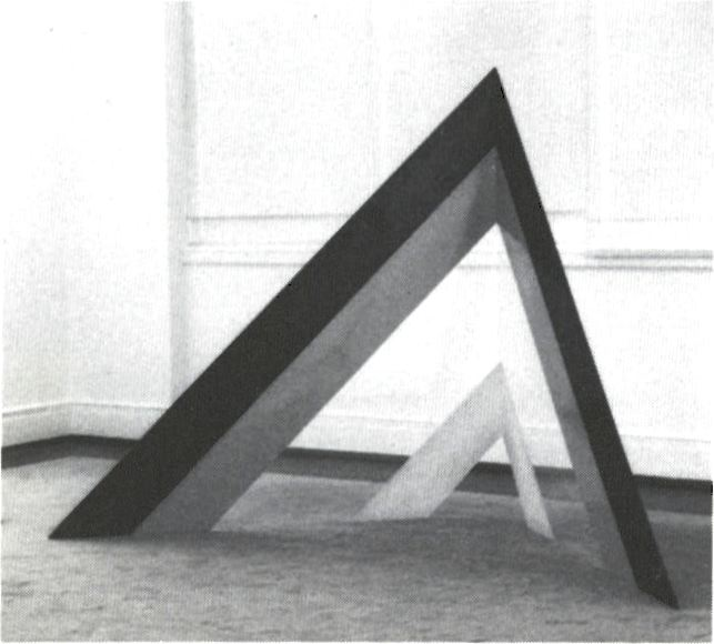 "Rockne Krebs, No Land, 1966, Plexiglas, 66 1/2"" high. Gift of Sam Gilliam, 1980."
