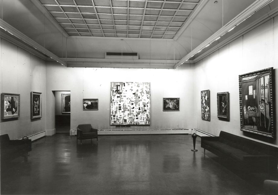 The main gallery of the museum, 1963. Photo courtesy of XX.